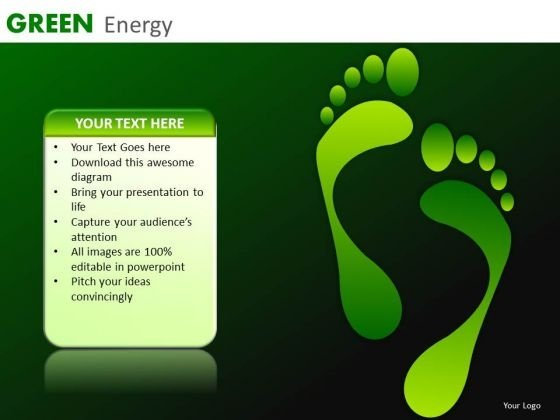 Green Energy Carbon Footprints PowerPoint Templates Green Ppt Presentations