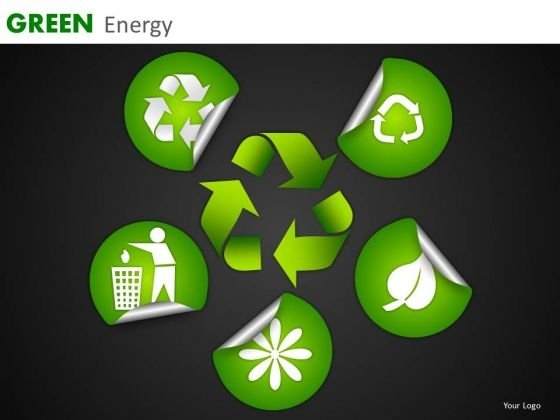 Green Energy Environment Conservation Icons PowerPoint Templates Green Ppt Slides