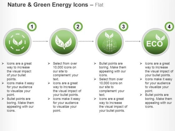 Green Energy Icons With Nature Protection And Ecology Ppt Slides Graphics