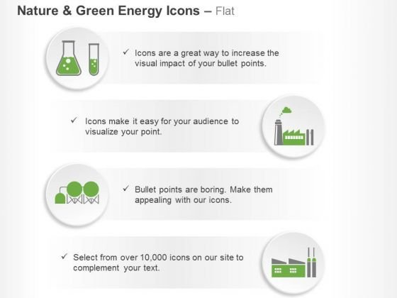 Green Energy Symbols Test Tube Factory And Machine Ppt Slides Graphics