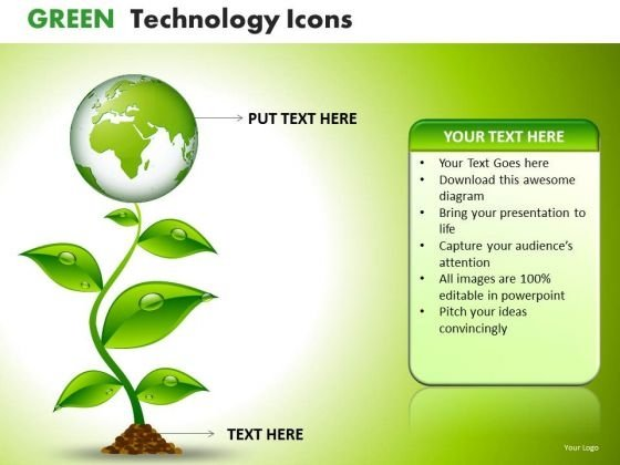 Green Growth Nature Environment PowerPoint Templates Ppt Slides