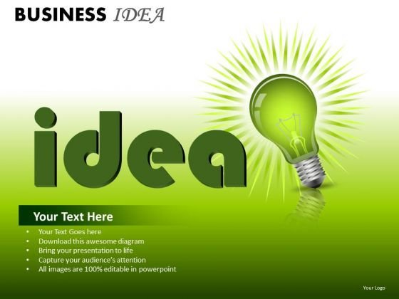 Green Idea PowerPoint Ppt Templates