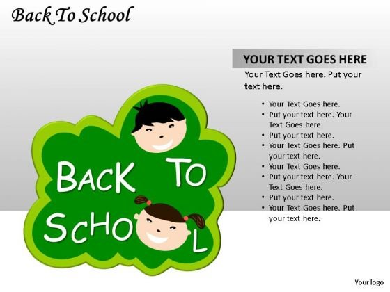 Green Kids Back To School PowerPoint Slides And Ppt Diagram Templates