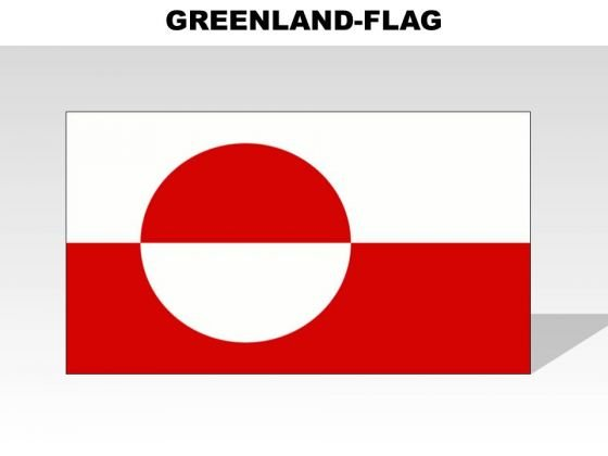 Greenland Country PowerPoint Flags