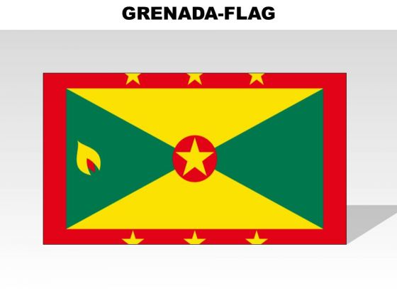 Grenada Country PowerPoint Flags