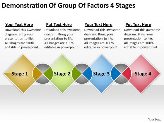 Group Factors 4 Stages Business Plan Examples PowerPoint Templates