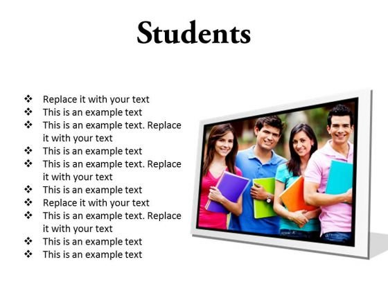 Group Of Students Education PowerPoint Presentation Slides F