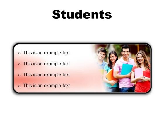 Group Of Students Education PowerPoint Presentation Slides R