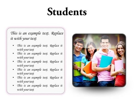 Group Of Students Education PowerPoint Presentation Slides S