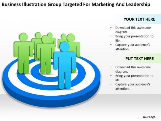 Group Targeted For Marketing And Leadership Examples Of Business Plan PowerPoint Slides