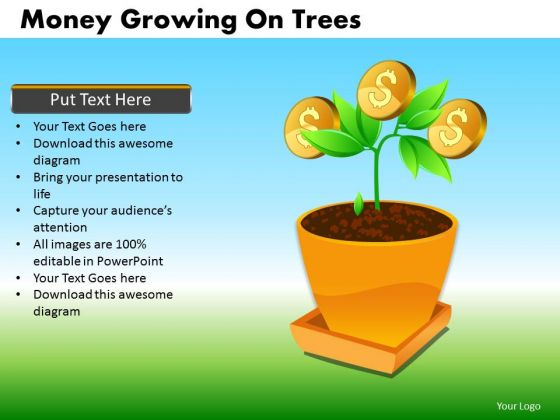 Growing Financial Investment Editable PowerPoint Slides Money Ppt Templates