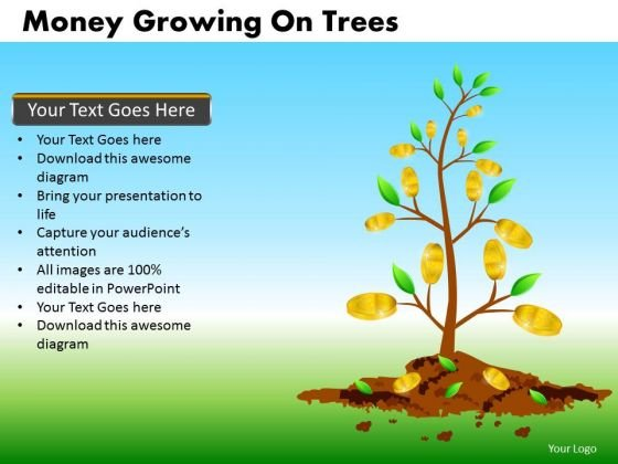 Growing Money Financial PowerPoint Templates Editable Ppt Slides
