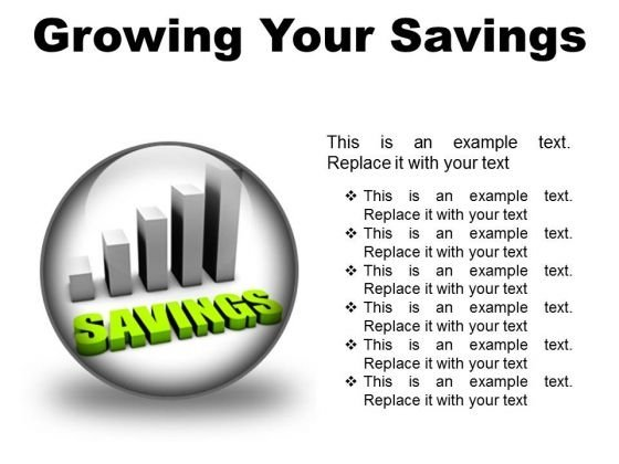 Growing Your Savings Future PowerPoint Presentation Slides C