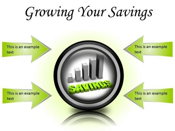 Growing Your Savings Future PowerPoint Presentation Slides Cc