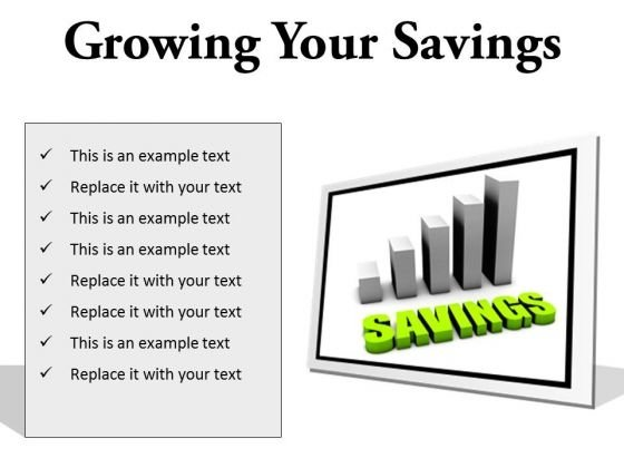 Growing Your Savings Future PowerPoint Presentation Slides F