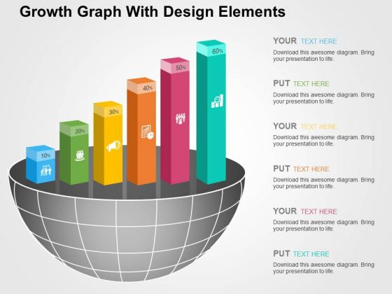 Growth Graph With Design Elements PowerPoint Templates
