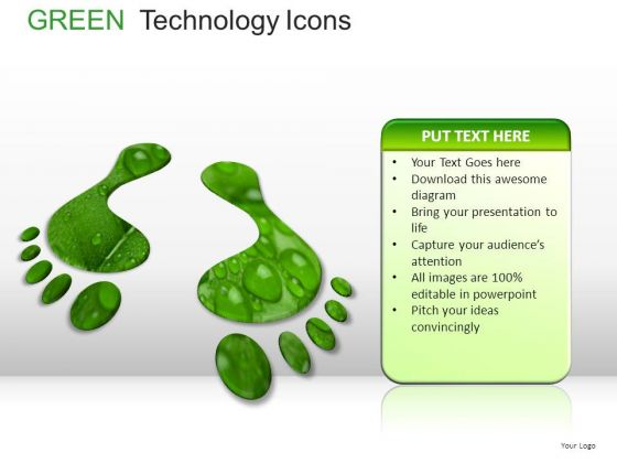 Growth Green Technology Icons PowerPoint Slides And Ppt Diagram Templates