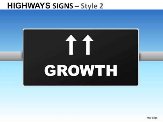 Growth Highways Signs 2 PowerPoint Slides And Ppt Diagram Templates