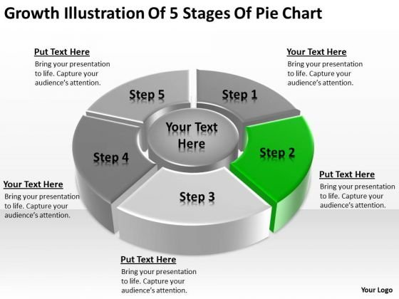 Growth Illustration Of 5 Stages Pie Chart Ppt Businessplans PowerPoint Slides