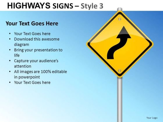 Guide Decisions Highways Signs 3 PowerPoint Slides And Ppt Diagram Templates