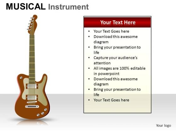 Guitar Musical Instrument PowerPoint Slides And Ppt Diagram Templates