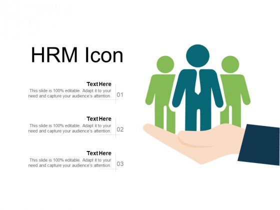 HRM Icon Ppt PowerPoint Presentation Visual Aids Slides PDF
