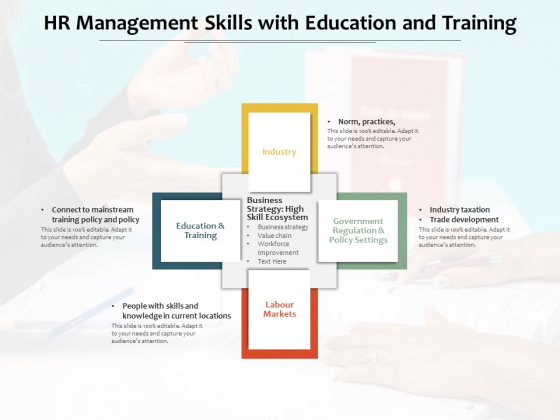HR Management Skills With Education And Training Ppt PowerPoint Presentation File Files PDF