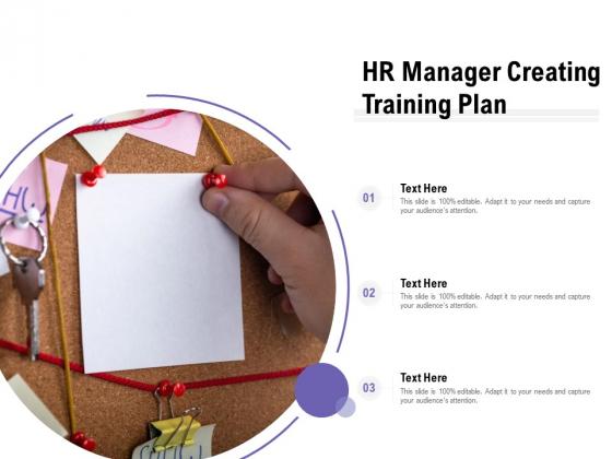 HR Manager Creating Training Plan Ppt Diagram Images PDF