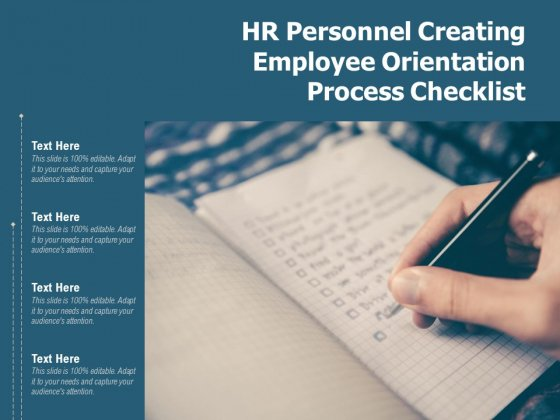 HR Personnel Creating Employee Orientation Process Checklist Ppt PowerPoint Presentation Gallery Rules PDF