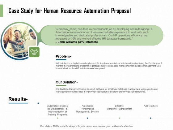HR Process Automation Case Study For Human Resource Automation Proposal Download PDF