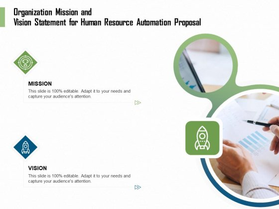 HR Process Automation Organization Mission And Vision Statement For Human Resource Automation Proposal Topics PDF
