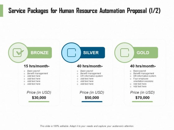 HR Process Automation Service Packages For Human Resource Automation Proposal System Rules PDF