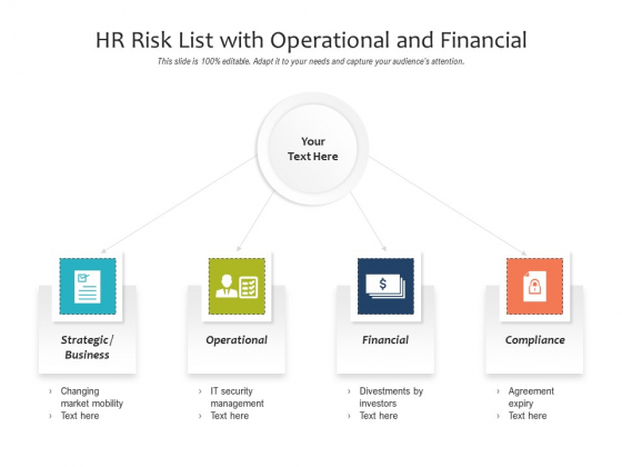 HR Risk List With Operational And Financial Ppt PowerPoint Presentation File Professional PDF