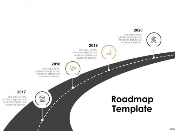 HR Strategy Employee Journey Roadmap Template Ppt Model Clipart PDF