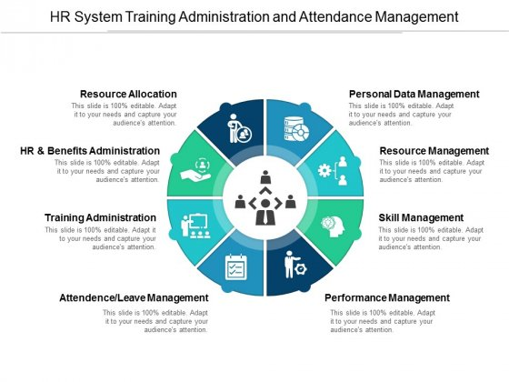 HR System Training Administration And Attendance Management Ppt PowerPoint Presentation Infographic Template Information