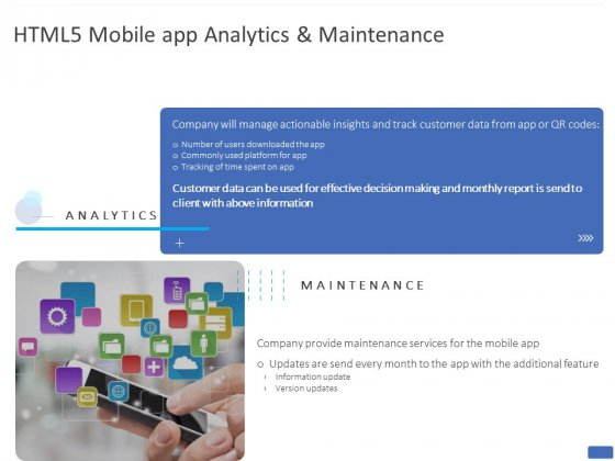 HTML5 Mobile App Analytics And Maintenance Ppt PowerPoint Presentation File Gallery PDF