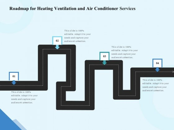 HVAC Roadmap For Heating Ventilation And Air Conditioner Services Slides PDF