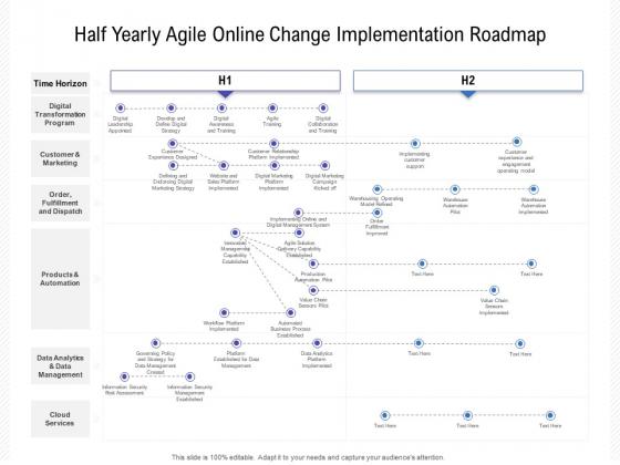 Half Yearly Agile Online Change Implementation Roadmap Brochure