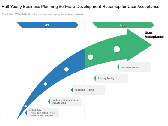 Half Yearly Business Planning Software Development Roadmap For User Acceptance Background