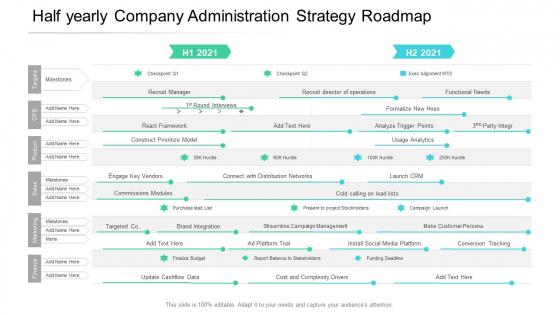 Half_Yearly_Company_Administration_Strategy_Roadmap_Summary_Slide_1