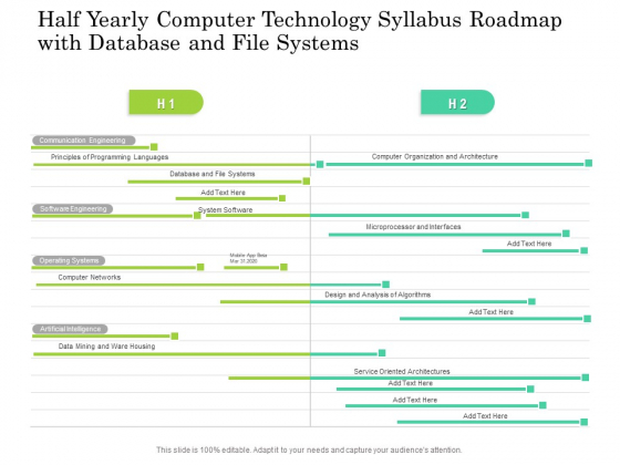 Half Yearly Computer Technology Syllabus Roadmap With Database And File Systems Demonstration