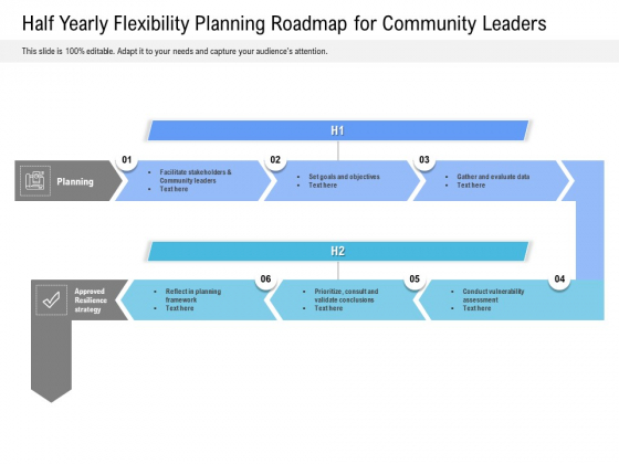 Half Yearly Flexibility Planning Roadmap For Community Leaders Brochure
