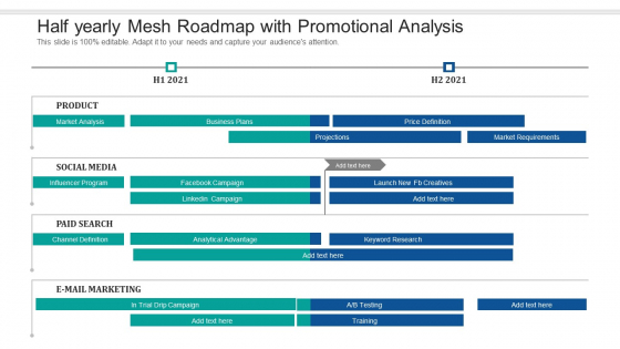 Half Yearly Mesh Roadmap With Promotional Analysis Guidelines
