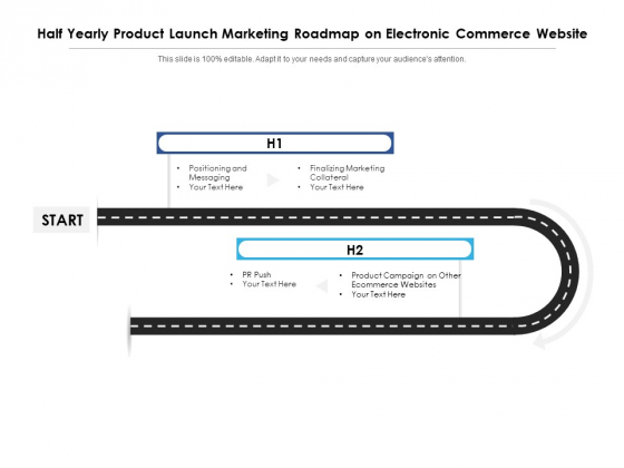 Half Yearly Product Launch Marketing Roadmap On Electronic Commerce Website Information