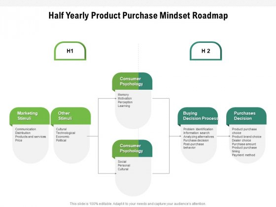 Half Yearly Product Purchase Mindset Roadmap Download