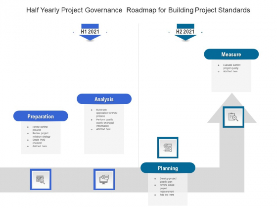 Half Yearly Project Governance Roadmap For Building Project Standards Graphics