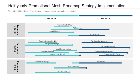 Half Yearly Promotional Mesh Roadmap Strategy Implementation Structure