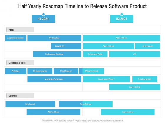 Half Yearly Roadmap Timeline To Release Software Product Topics