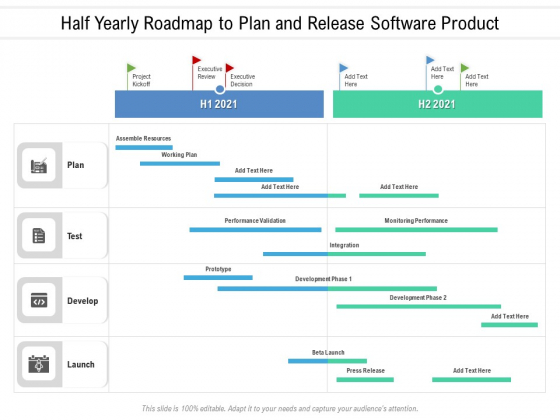 Half Yearly Roadmap To Plan And Release Software Product Brochure