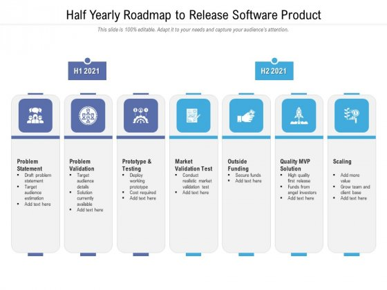Half Yearly Roadmap To Release Software Product Icons